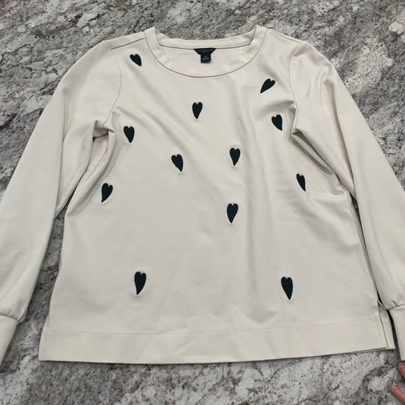Ann Taylor heart Crew sweat shirt